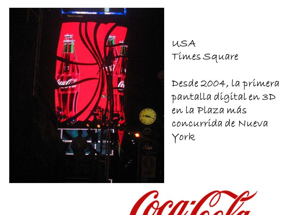 USA Times Square Desde 2004, la primera pantalla digital en 3D en la Plaza más concurrida de Nueva York