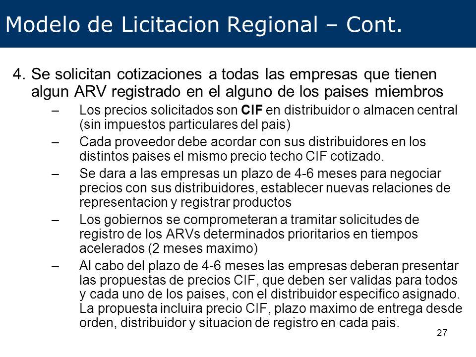 28 Modelo de Licitacion Regional – Cont.5.