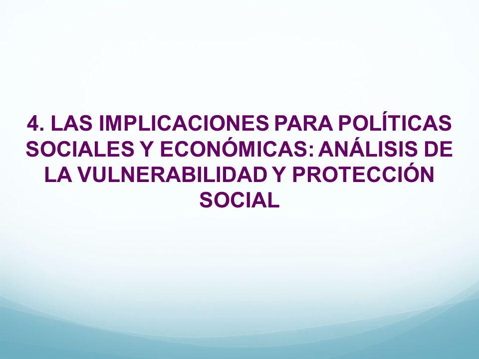 4. LAS IMPLICACIONES PARA POLÍTICAS SOCIALES Y ECONÓMICAS: ANÁLISIS DE LA VULNERABILIDAD Y PROTECCIÓN SOCIAL