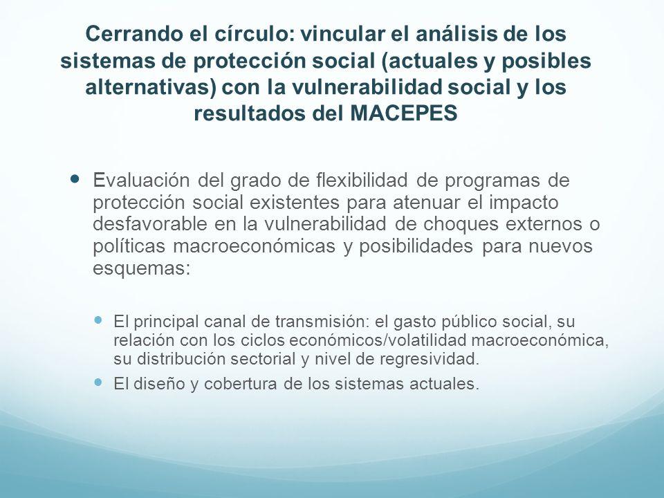 Cerrando el círculo: vincular el análisis de los sistemas de protección social (actuales y posibles alternativas) con la vulnerabilidad social y los r
