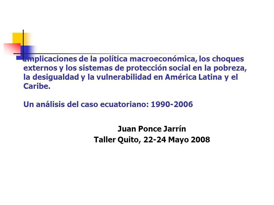 Salud: acceso a los servicios Población % lugar de atención del parto Sector PúblicoSector PrivadoDomicilio Quintil: 20% más pobre Dos Tres Cuatro 20% más rico 39,5 46,9 50,2 50,0 40,6 17,3 29,6 38,5 42,6 54,9 42,8 23,2 11,1 7,2 4,5 Grupo étnico: Indígena Mestizo Blanco 25,2 47,0 49,5 5,6 34,5 38,0 68,7 18,2 12,5