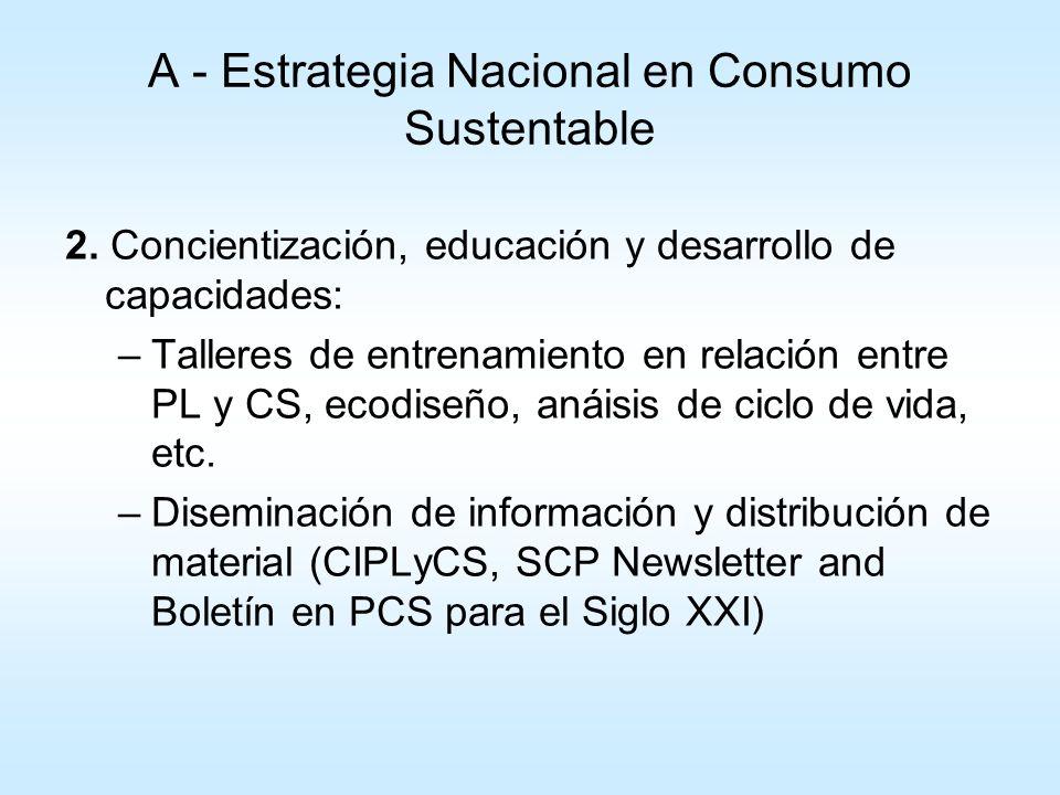 A - Estrategia Nacional en Consumo Sustentable 3.