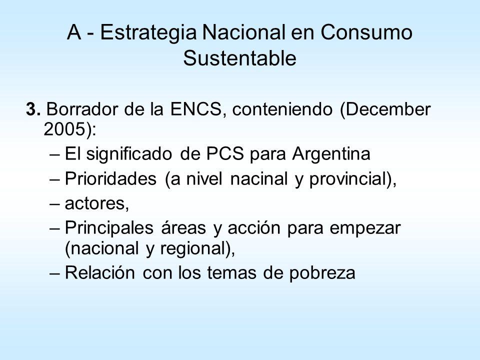 A - Estrategia Nacional en Consumo Sustentable 4.