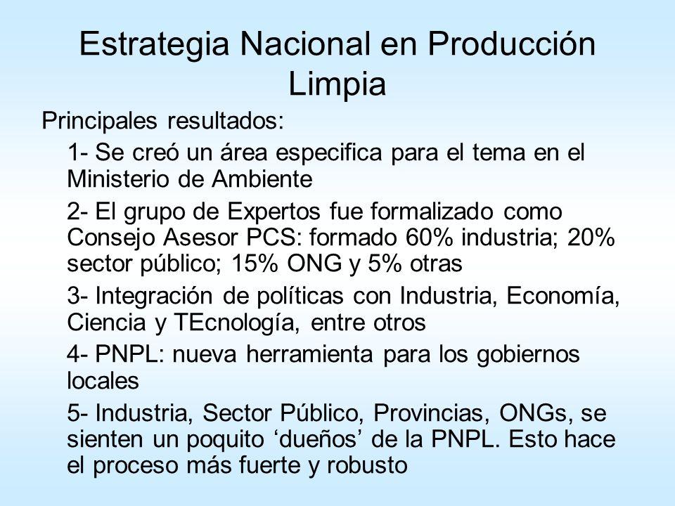 Hacia una estrategia integrada en PCS Estrategia Nacional de Consumo Sustentable (2005) Estrategia Nacional de Producción Limpia (2002) Estrategia Integrada en Producción y Consumo Sustentable (2006)