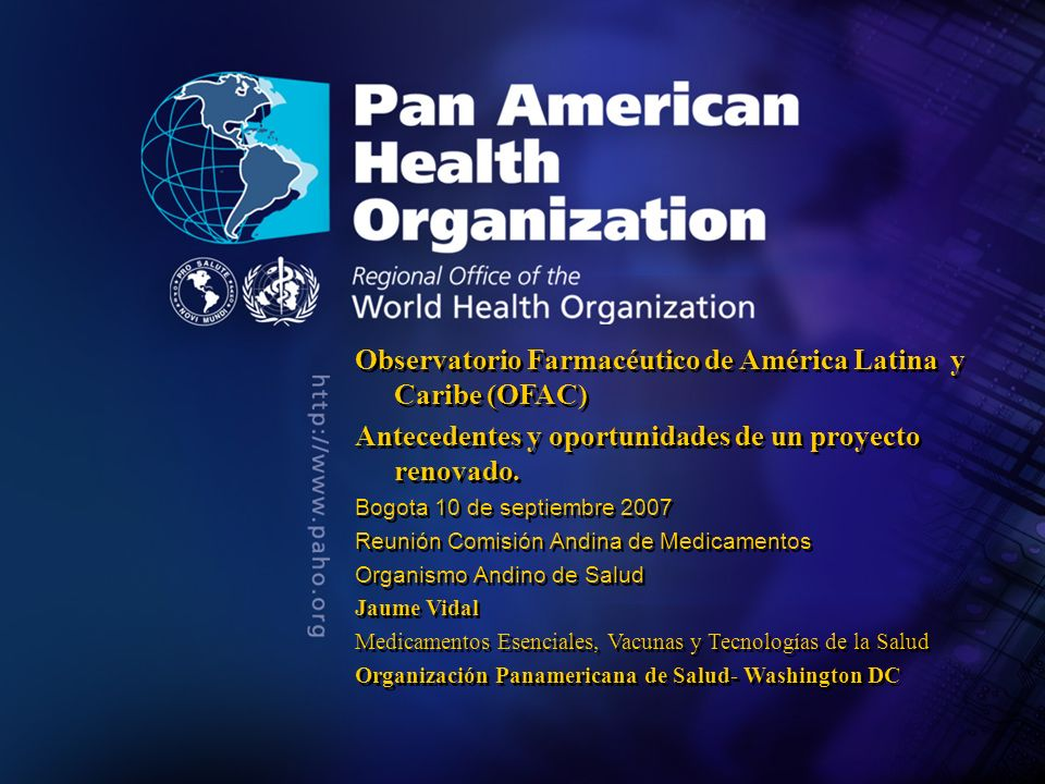2004 Pan American Health Organization Introducción 1.