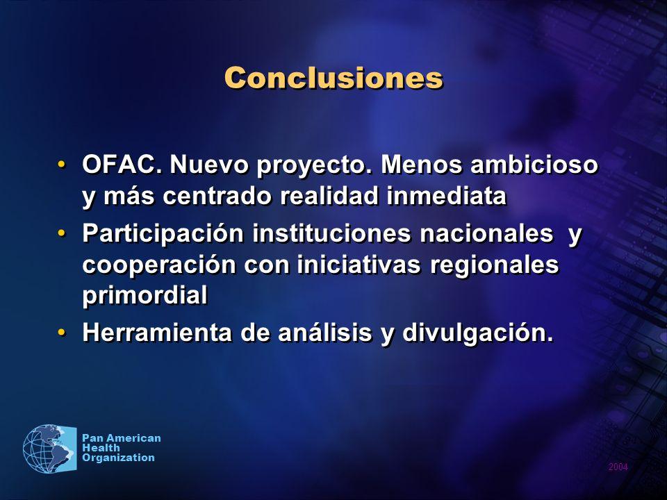 2004 Pan American Health Organization Conclusiones OFAC.