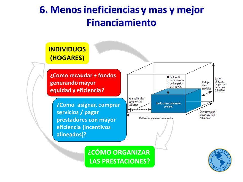 6. Menos ineficiencias y mas y mejor Financiamiento