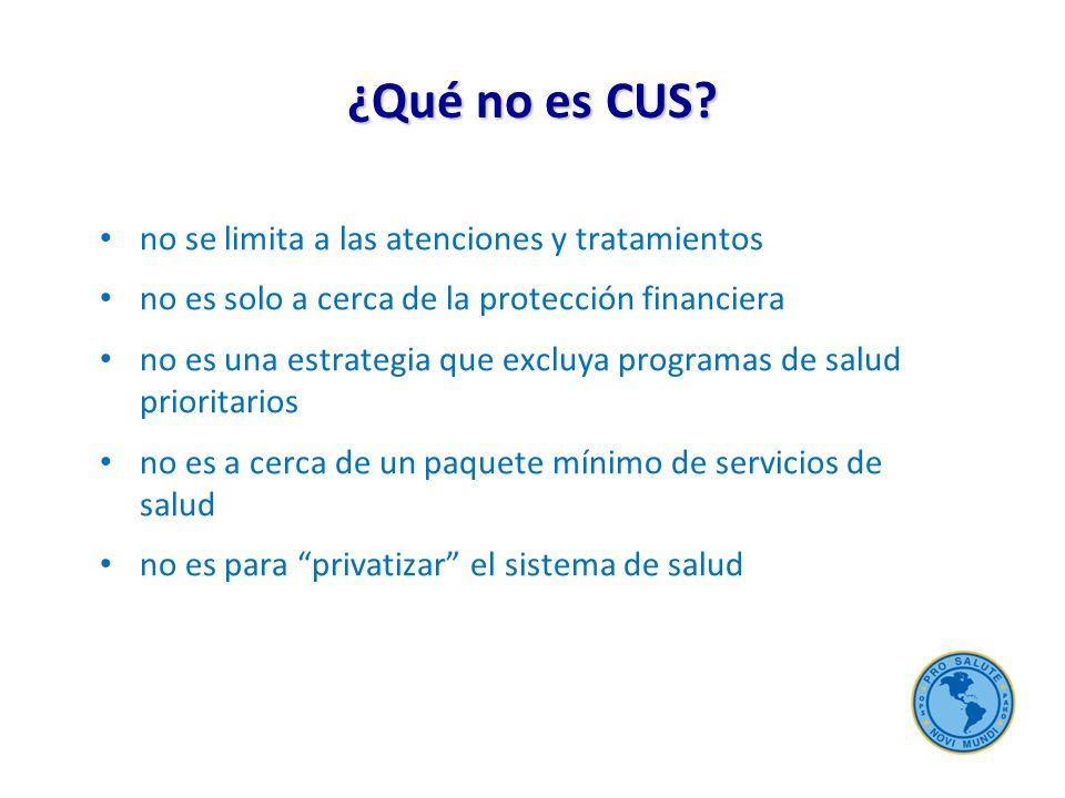 ¿Qué no es CUS.