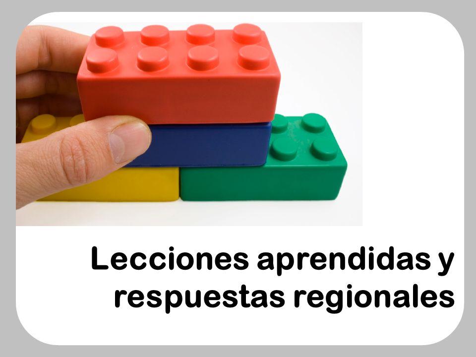 Lecciones aprendidas y respuestas regionales