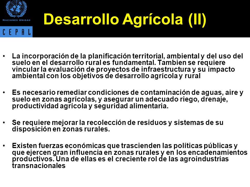 Tierra Se requiere establecer arreglos institucionales y legales que aseguren la tenencia y el acceso a la tierra agrícola.
