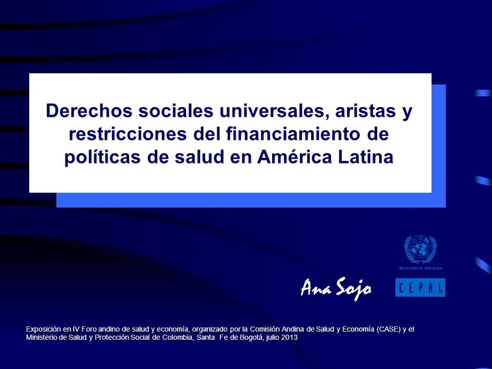 Ana Sojo Exposición en IV Foro andino de salud y economía, organizado por la Comisión Andina de Salud y Economía (CASE) y el Ministerio de Salud y Pro