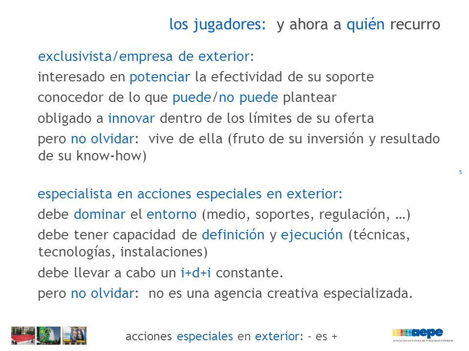 acciones especiales en exterior: utilizar el entorno de forma especial 24 acciones especiales en exterior: - es +