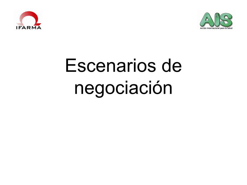 Escenarios de negociación