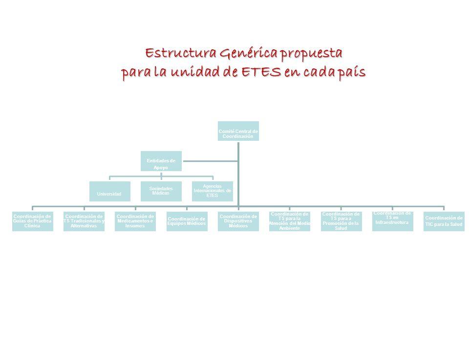 Comité Central de Coordinación Coordinación de Guías de Práctica Clínica Coordinación de TS Tradicionales y Alternativas Coordinación de Medicamentos