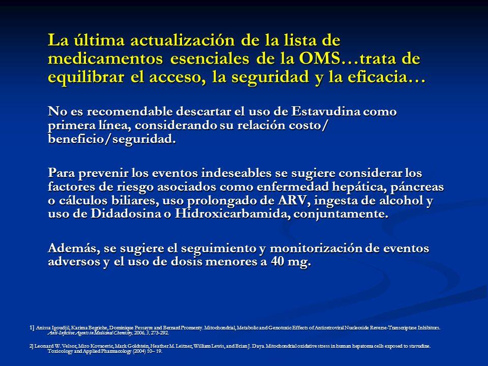 La última actualización de la lista de medicamentos esenciales de la OMS…trata de equilibrar el acceso, la seguridad y la eficacia… No es recomendable