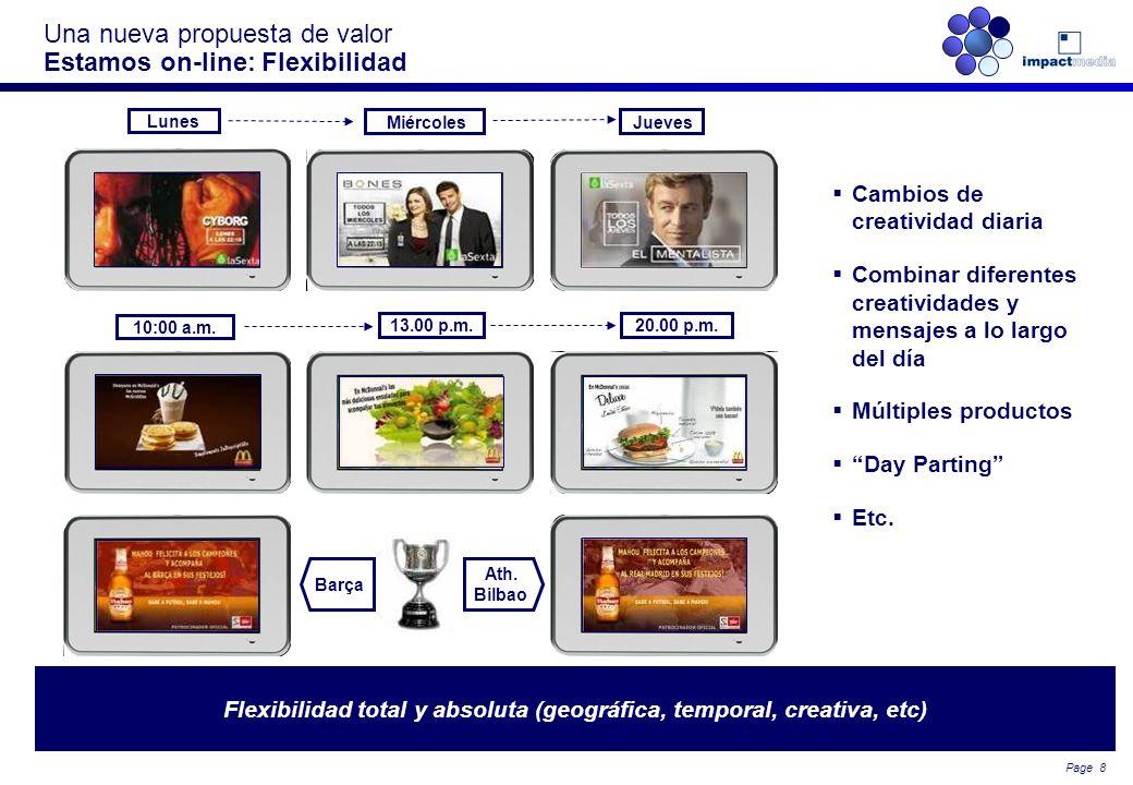 Page 7 Una nueva propuesta de valor La importancia de la ubicación Estamos geolocalizados. Somos los únicos con capacidad para conectar al anunciante