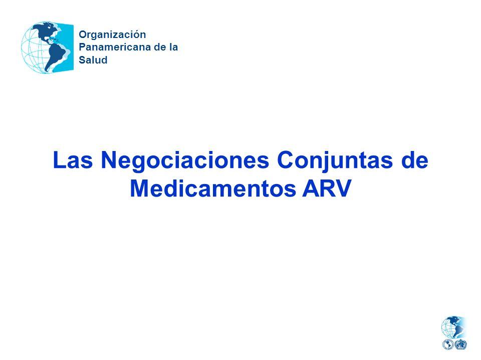 Las Negociaciones Conjuntas de Medicamentos ARV Organización Panamericana de la Salud