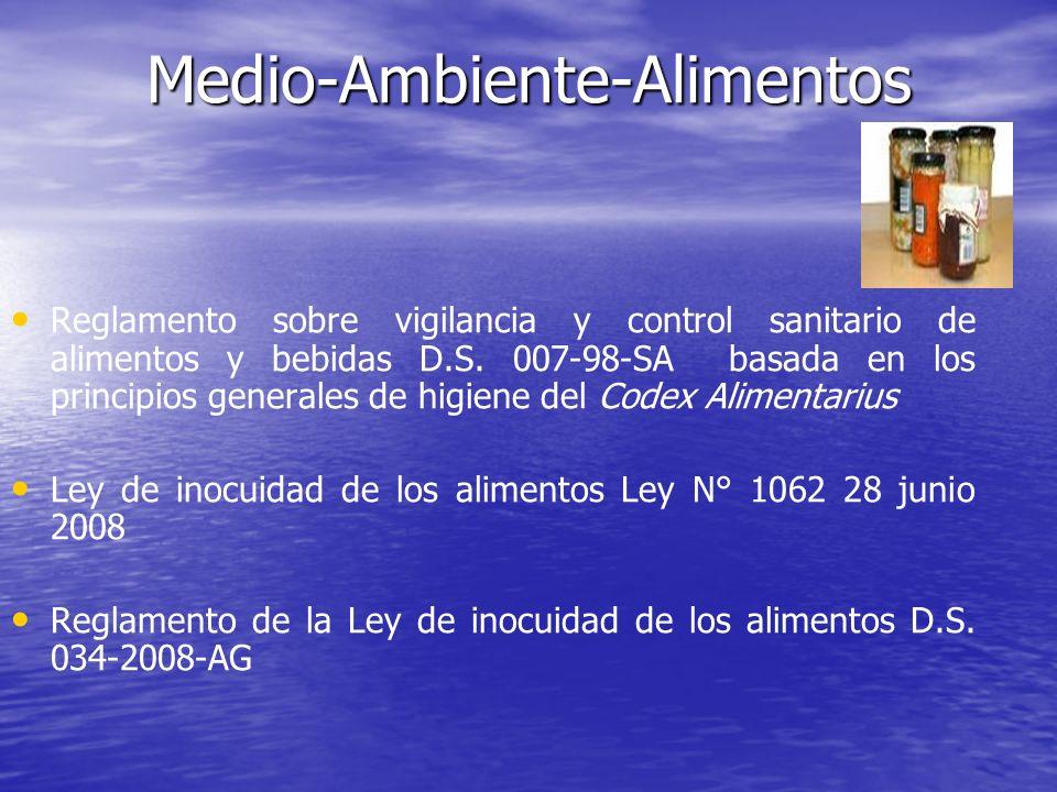 Reglamento sobre vigilancia y control sanitario de alimentos y bebidas D.S. 007-98-SA basada en los principios generales de higiene del Codex Alimenta