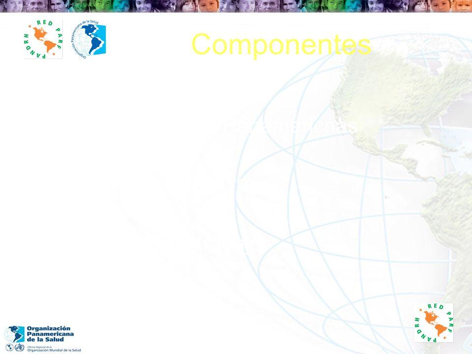 Componentes Conferencias Panamericnas Comité Directivo Grupos de trabajo Secretariado