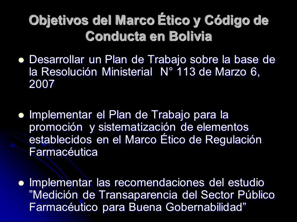 ESTAMOS BUSCANDO… La Socialización/adopción/cumplimiento del Marco Ético y el Código de Conducta en los procesos del sector público relacionados con medicamentos.