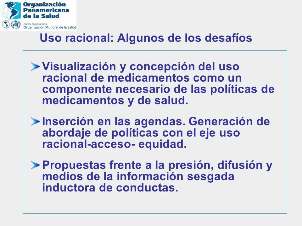 Visualización y concepción del uso racional de medicamentos como un componente necesario de las políticas de medicamentos y de salud. Inserción en las