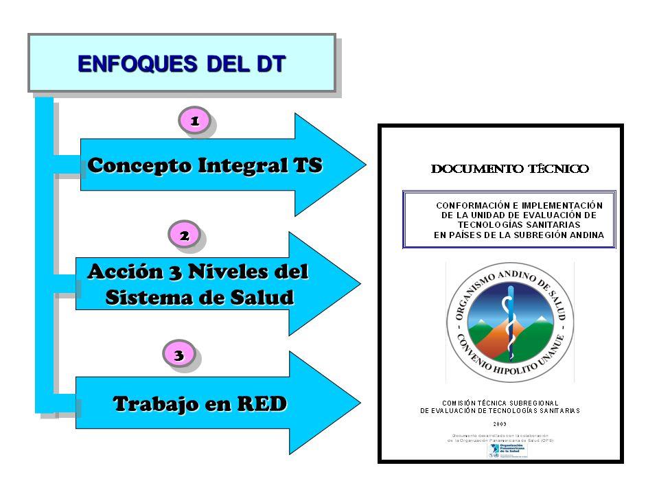 Comisión Técnica Subregional de ETS Unidad de ETS de Bolivia Unidad de ETS de Chile Unidad de ETS de Colombia Unidad de ETS de Ecuador Unidad de ETS de Perú Unidad de ETS de Venezuela Entidades de Apoyo Universidad Redes Internacionales de ETS Agencias Internacionales de ETS