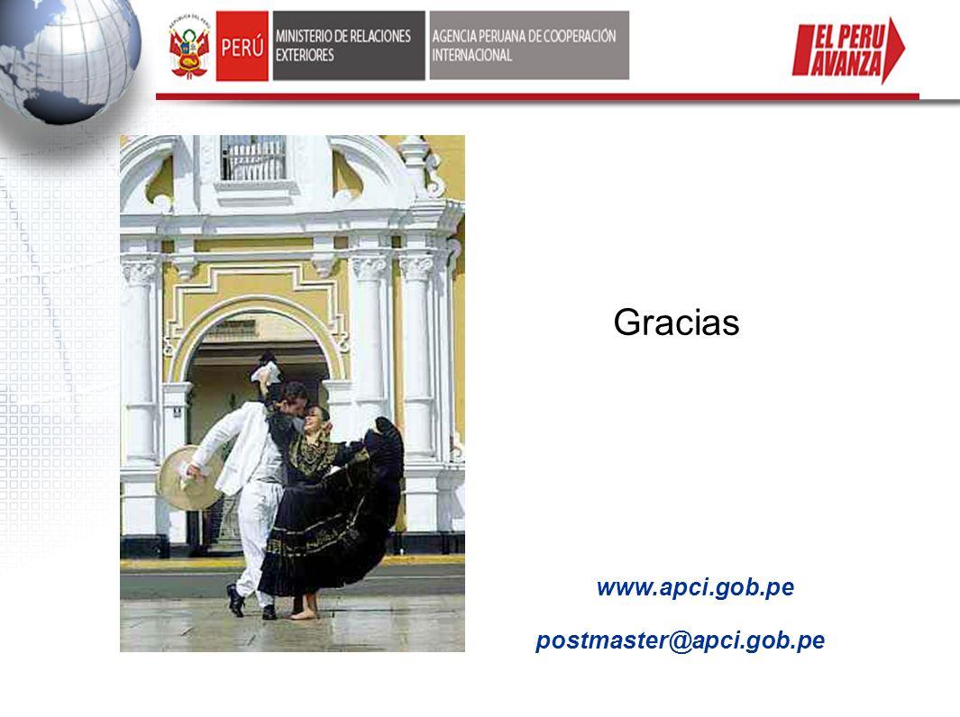 Gracias www.apci.gob.pe postmaster@apci.gob.pe