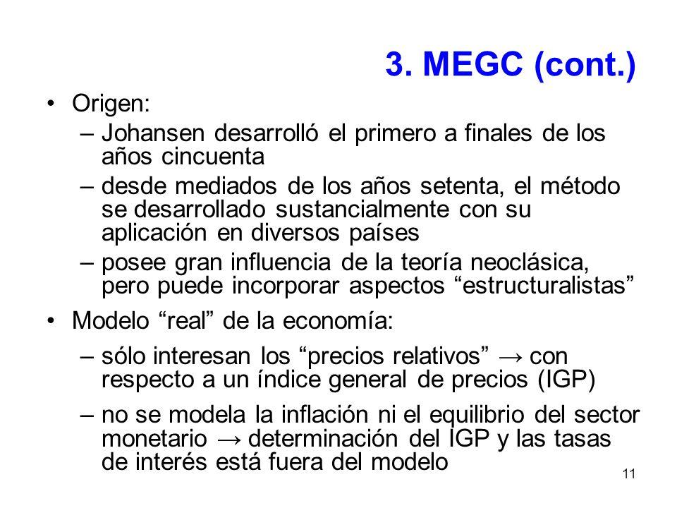 11 3. MEGC (cont.) Origen: –Johansen desarrolló el primero a finales de los años cincuenta –desde mediados de los años setenta, el método se desarroll