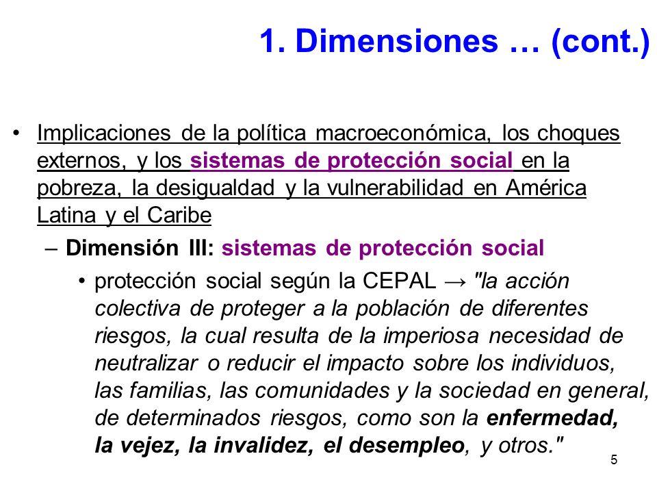 5 Implicaciones de la política macroeconómica, los choques externos, y los sistemas de protección social en la pobreza, la desigualdad y la vulnerabil