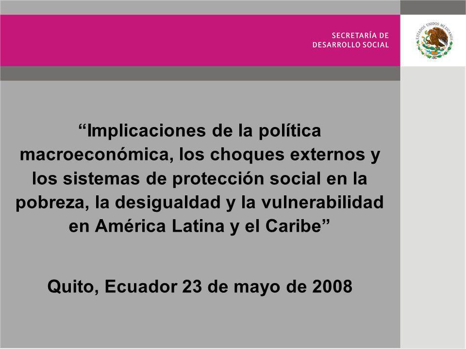 Implicaciones de la política macroeconómica, los choques externos y los sistemas de protección social en la pobreza, la desigualdad y la vulnerabilida