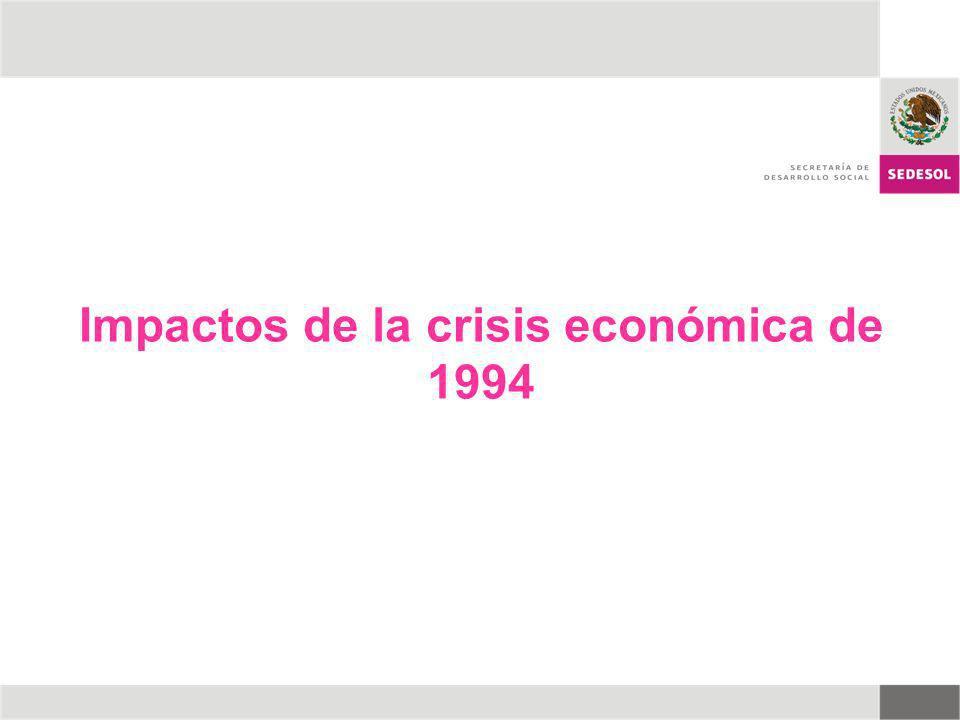 Impactos de la crisis económica de 1994