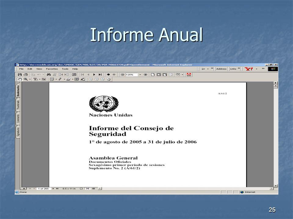 25 Informe Anual