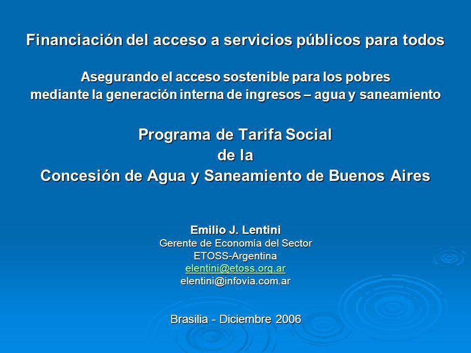 Financiación del acceso a servicios públicos para todos Asegurando el acceso sostenible para los pobres mediante la generación interna de ingresos – a