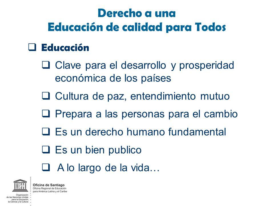 Meta 6 de EPT es Todavía un Desafío Inminente progreso en el acceso a la educación.