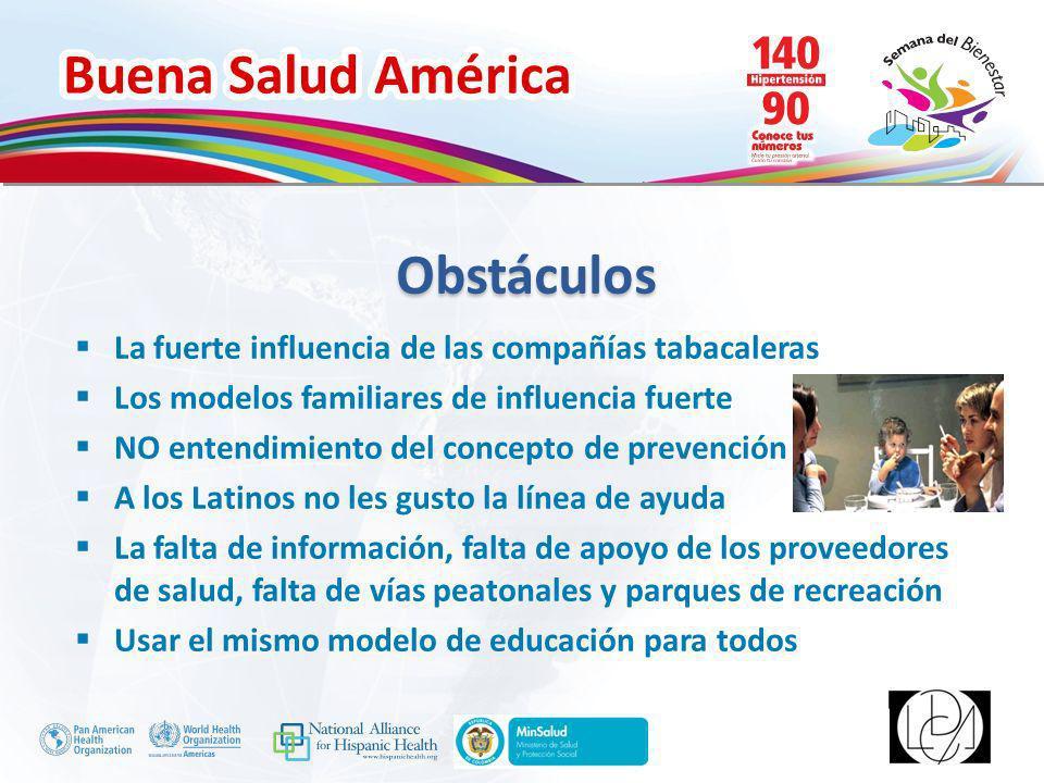Buena Salud América Inserte su logo Personas inscritas a la línea de ayuda para dejar de fumar de Oklahoma Raza/EtnicidadAño Fiscal 2010201120122013 Latinos1205124111871121 Total personas inscritas - línea de ayuda 37987375413903335373 Personas que hablan Español inscritas a la línea de ayuda para dejar de fumar de Oklahoma Año Fiscal 2010201120122013 Personas que hablan Español274285224226 http://www.youtube.com/watch?v=WFx7Uz wmZwY Grupos Focales Video Grupos Focales