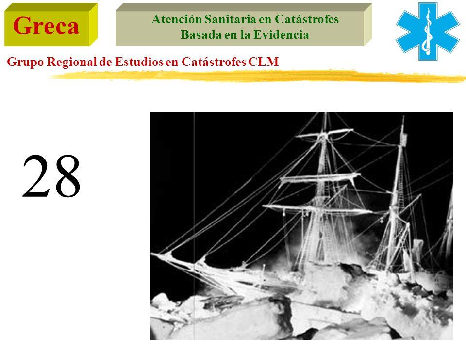 Greca Atención Sanitaria en Catástrofes Basada en la Evidencia Grupo Regional de Estudios en Catástrofes CLM 28