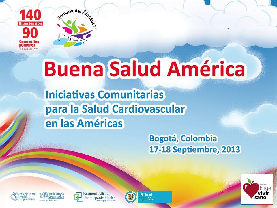 Buena Salud América Recomendaciones: Compartir experiencias Difundir Proyectos de cooperación Conciencia masiva Elige Vivir Sano