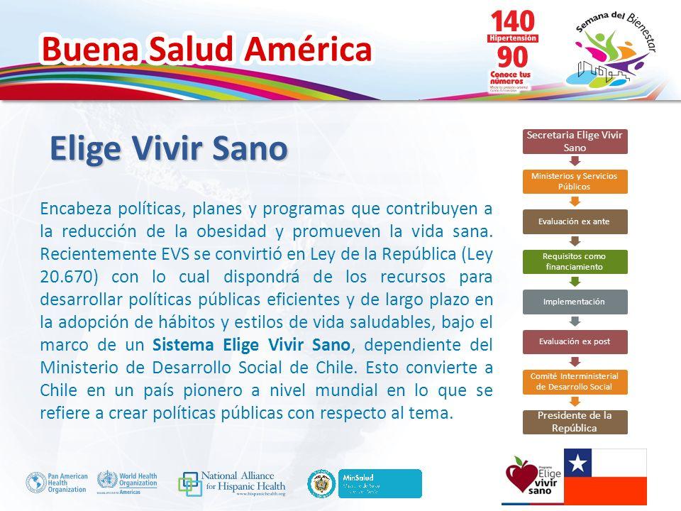 Buena Salud América Elige Vivir Sano Elige Vivir Sano es conocido, querido y valorado por las chilenas y chilenos.