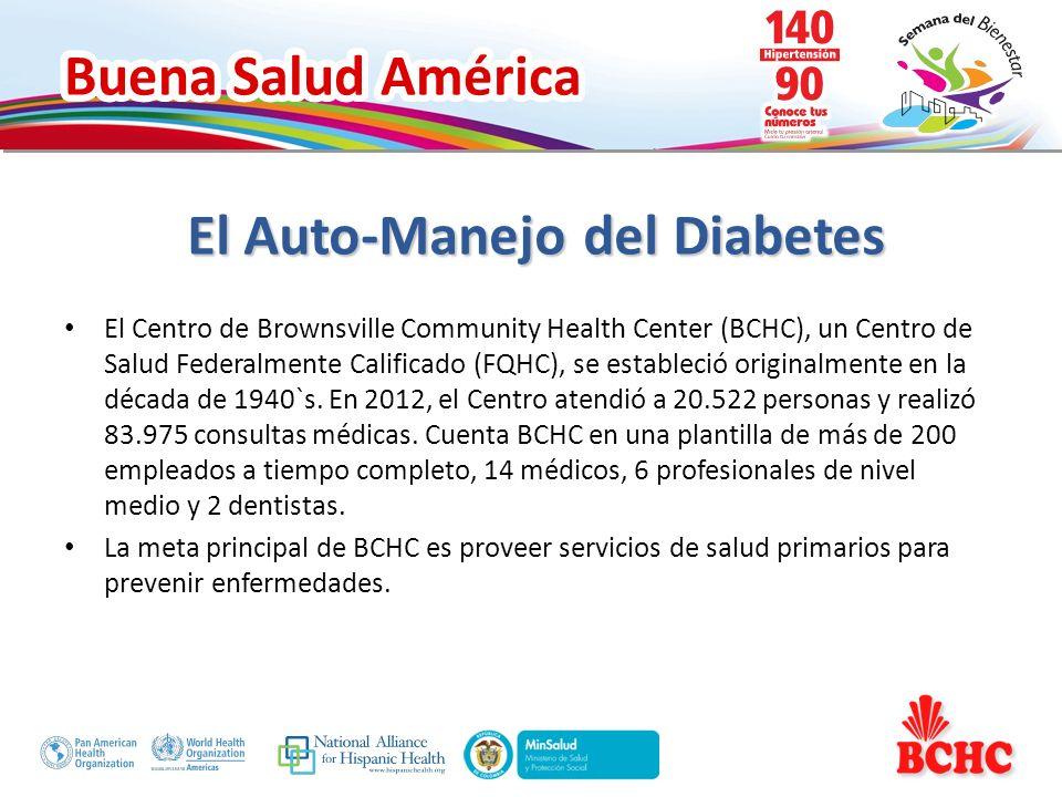 Buena Salud América El proceso comienza cuando un paciente es diagnosticado con diabetes (sobre la base de los niveles de A1c de 7 o más.) Los proveedores de servicios médicos y su personal refieren a los pacientes a la Clase de Diabetes básico.