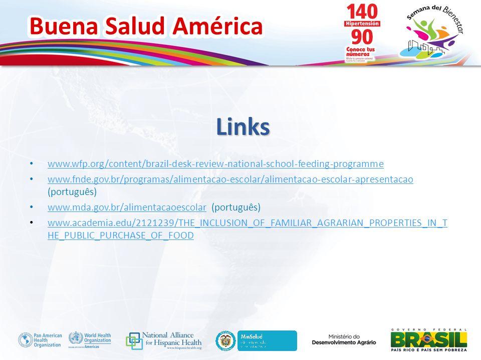 Buena Salud América Inserte su logo Links www.wfp.org/content/brazil-desk-review-national-school-feeding-programme www.fnde.gov.br/programas/alimentac