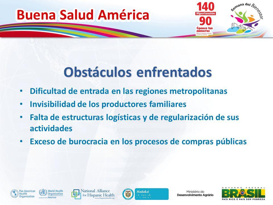 Buena Salud América Inserte su logo Dificultad de entrada en las regiones metropolitanas Invisibilidad de los productores familiares Falta de estructu
