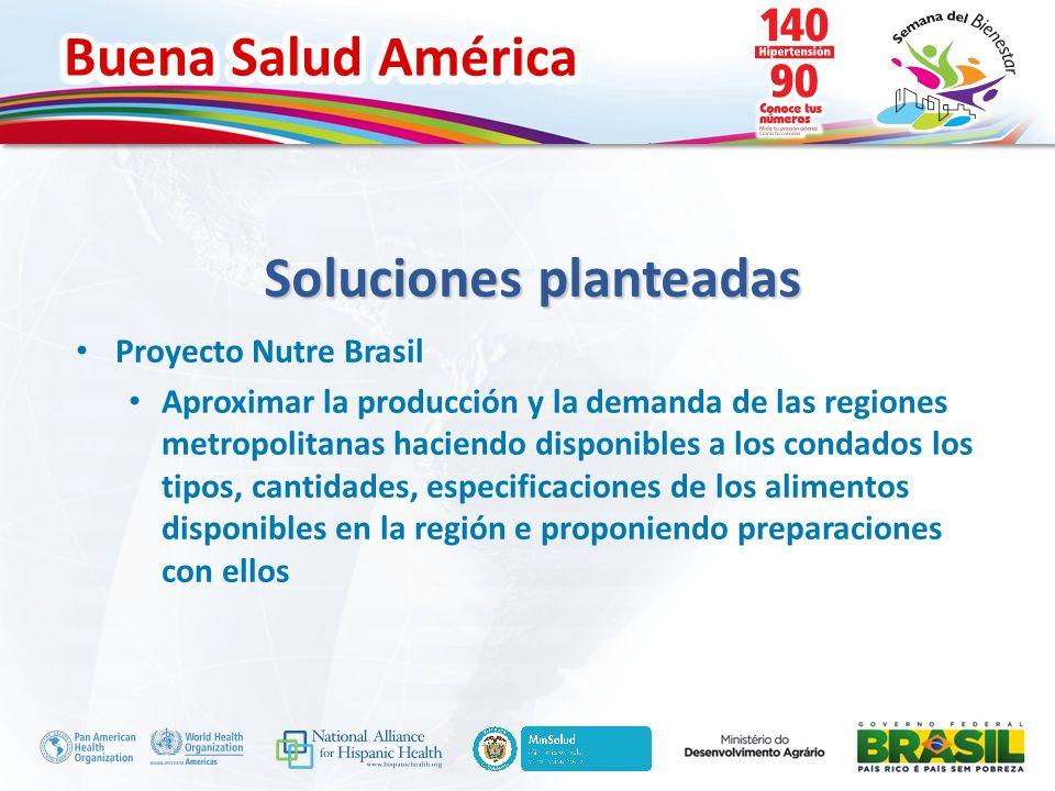 Buena Salud América Inserte su logo Proyecto Nutre Brasil Aproximar la producción y la demanda de las regiones metropolitanas haciendo disponibles a l