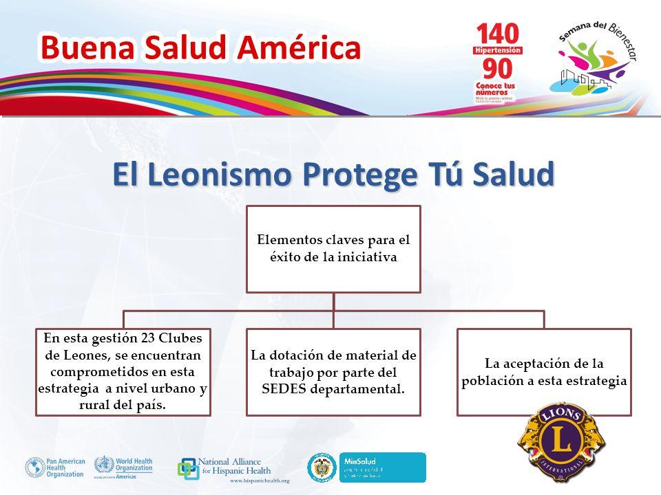 Buena Salud América Inserte su logo Elementos claves para el éxito de la iniciativa En esta gestión 23 Clubes de Leones, se encuentran comprometidos e