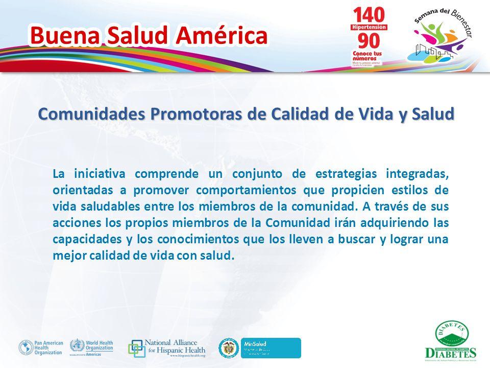 Buena Salud América La iniciativa comprende un conjunto de estrategias integradas, orientadas a promover comportamientos que propicien estilos de vida