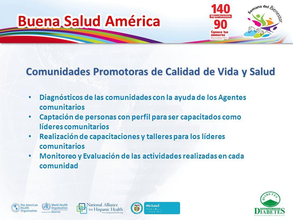 Buena Salud América Diagnósticos de las comunidades con la ayuda de los Agentes comunitarios Captación de personas con perfil para ser capacitados com