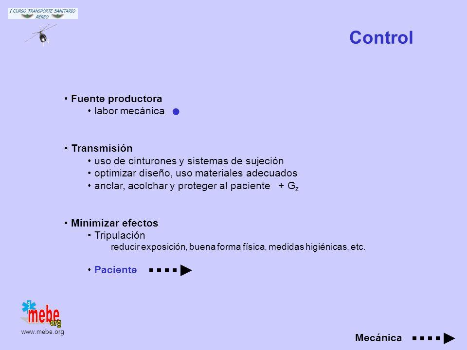 www.mebe.org Relación ocupacional agudos Mismo efecto que impactos de misma dirección y magnitud crónicos sd. Raynaud, neuritis, decalcificación, escl