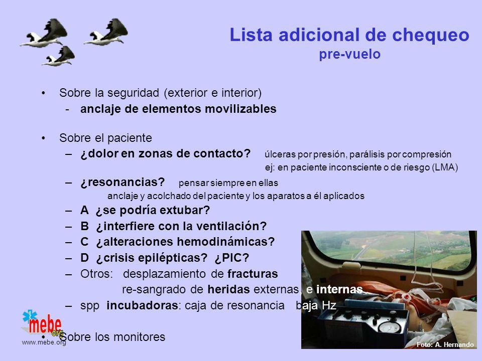 www.mebe.org Ajuste mecánico de vibraciones Paciente