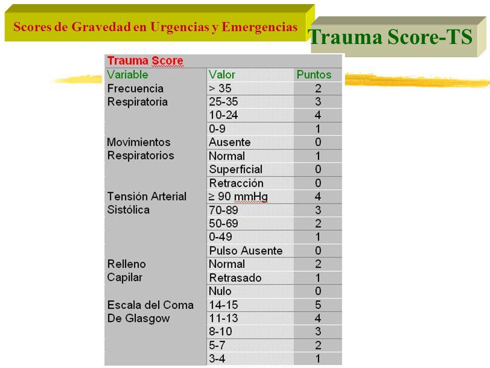 Scores de Gravedad en Urgencias y Emergencias Trauma Score-TS