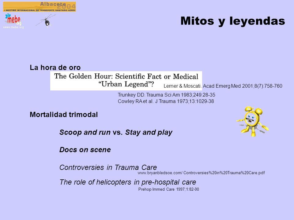 Evidencias en TS en HEMS A. Serrano Moraza Impacto de los equipos medicalizados sobre la supervivencia del paciente