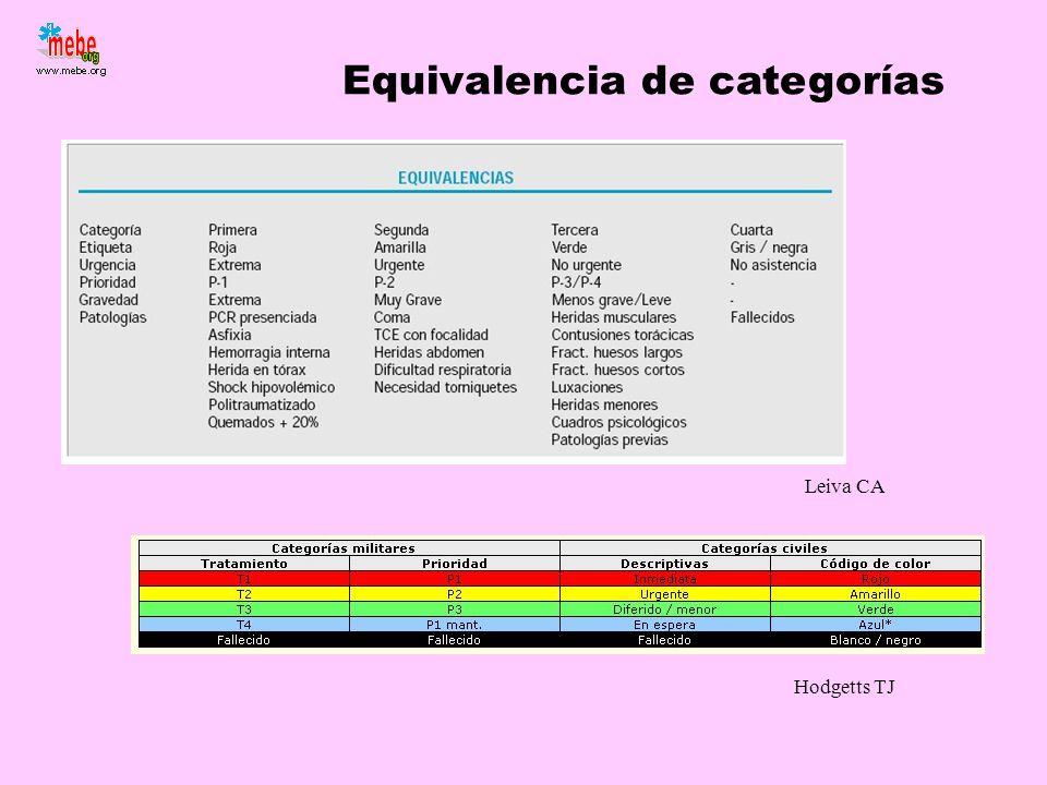Equivalencia de categorías Hodgetts TJ Leiva CA